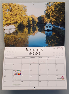 Customised 2020 Calendar A4 Landscape Upload Images